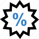 burst, interest, percent, percentage, special icon