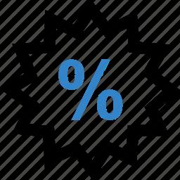 burst, interest, percent, percentage, special icon
