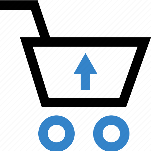arrow, cart, shop, shopping, up icon