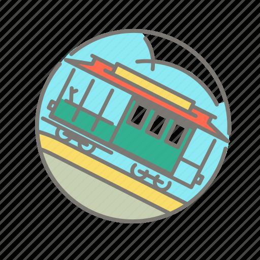 america, cable car, san francisco, tourist icon