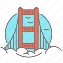 america, golden gate bridge, san francisco, tourist icon