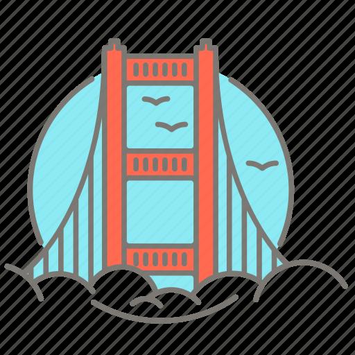 america, golden gate bridge, san francisco, tourist icon