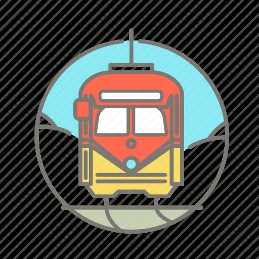america, san francisco, street car, tourist icon