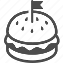 burger, cocktail, fastfood, food, hamburger, lunch, meat icon