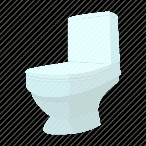 bathroom, bowl, cartoon, clean, lavatory, pan, toilet icon