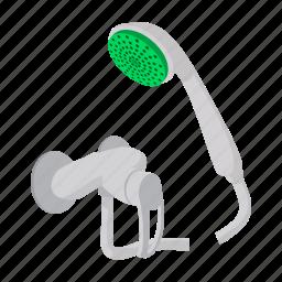 cartoon, douche, photo-realistic, shower, shower bath, water, wet icon