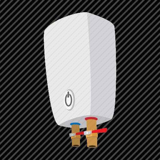 boiler, cartoon, electric, heater, tank, temperature, water icon