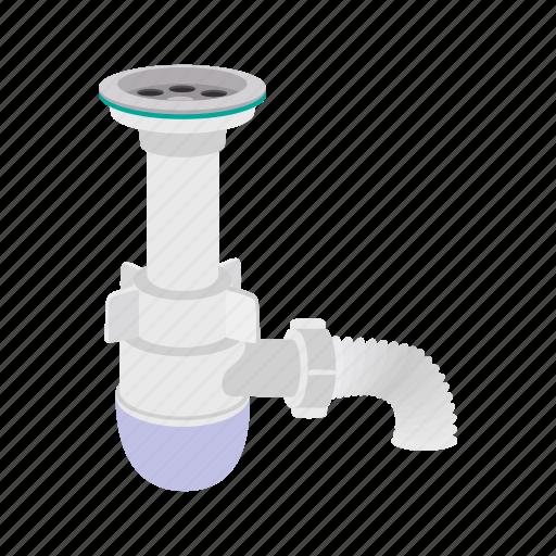 cartoon, faucet, mixer, pipe, plumbing, silhouette, valve icon