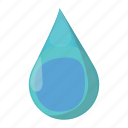 blue, cartoon, drop, liquid, raindrop, splashing, water icon