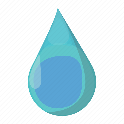 blue, cartoon, drop, liquid, raindrop, splashing, water icon