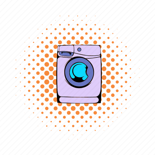 clean, clothes, clothing, comics, housework, machine, washer icon