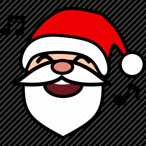 christmas, face, holiday, santa, smile, snow, xmas icon