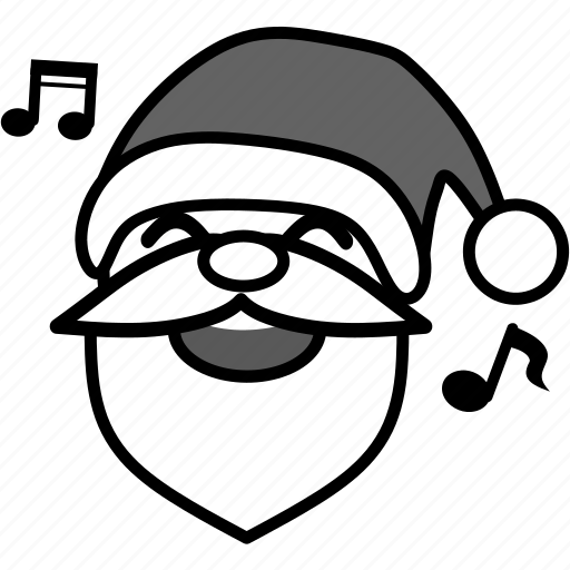 christmas, claus, emoticon, santa, smile, smiley, xmas icon