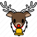 animal, christmas, emoticon, face, reindeer, santa, xmas icon