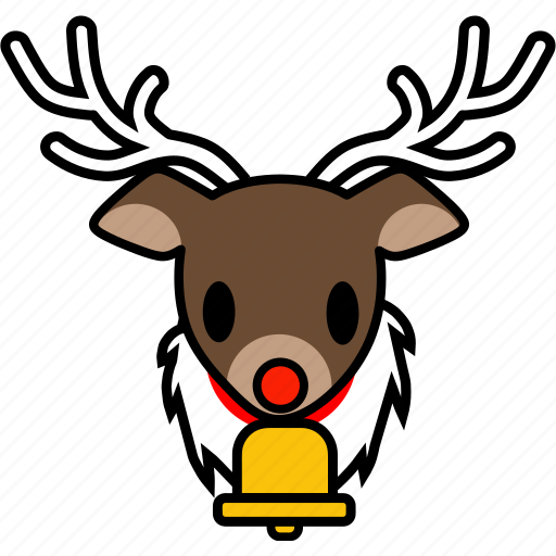 animal, christmas, emoticon, face, reindeer, santa, xmas icon