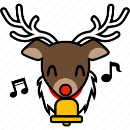 expression, face, happy, reindeer, santa, smile, xmas icon