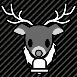 christmas, holiday, reindeer, santa, snow, winter, xmas icon