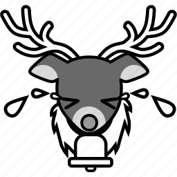 christmas, cry, emotion, expression, face, reindeer, xmas icon