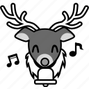 christmas, emoticon, reindeer, smile, smiley, winter, xmas icon