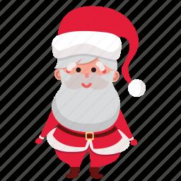 christmas, claus, happy, holiday, santa, santa claus, xmas icon