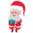 christmas, gift, holiday, present, santa, santa claus, xmas icon