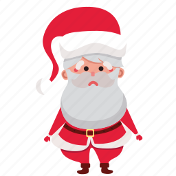 christmas, claus, holiday, sad, santa, santa claus, xmas icon