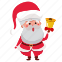 bell, christmas, claus, holiday, santa, santa claus, xmas icon
