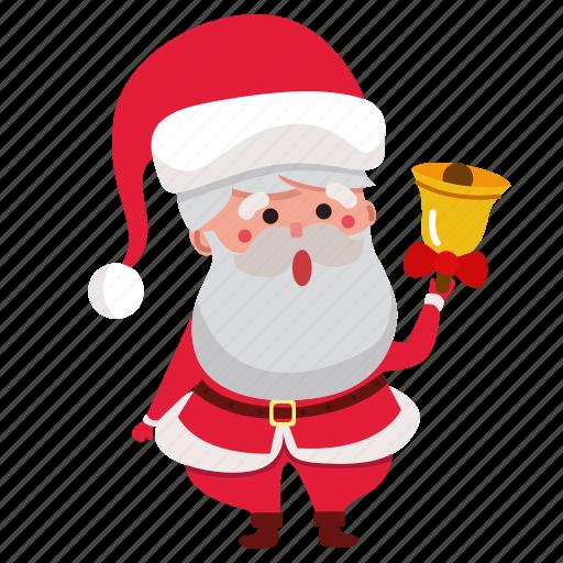 bell, christmas, claus, holiday, santa, santa claus, xmas icon