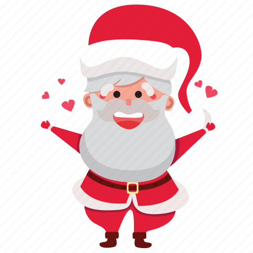 christmas, claus, holiday, hug, santa, santa claus, xmas icon