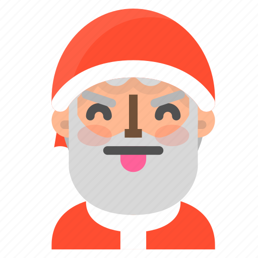 angry, avatar, christmas, emoji, face, santa, winter icon