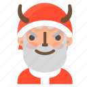 avatar, bad, christmas, emoji, face, santa, winter icon