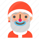 avatar, christmas, clown, emoji, face, santa, winter icon