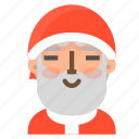 avatar, christmas, contented, emoji, face, santa, winter icon