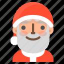 avatar, christmas, emoji, face, happy, santa, winter icon