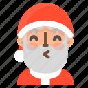 avatar, christmas, emoji, face, kiss, santa, winter icon