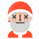 avatar, christmas, emoji, face, lifeless, santa, winter icon