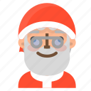 avatar, christmas, emoji, face, nerd, santa, winter icon