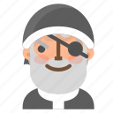 avatar, christmas, emoji, face, pirate, santa, winter icon