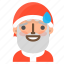 avatar, christmas, emoji, face, santa, sorry, winter icon