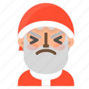 avatar, christmas, emoji, face, santa, stunned, winter icon