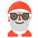 avatar, christmas, emoji, face, santa, sunglasses, winter icon