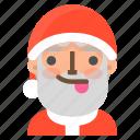 avatar, christmas, emoji, face, santa, tongue, winter icon