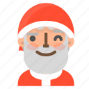 avatar, christmas, emoji, face, santa, wink, winter icon