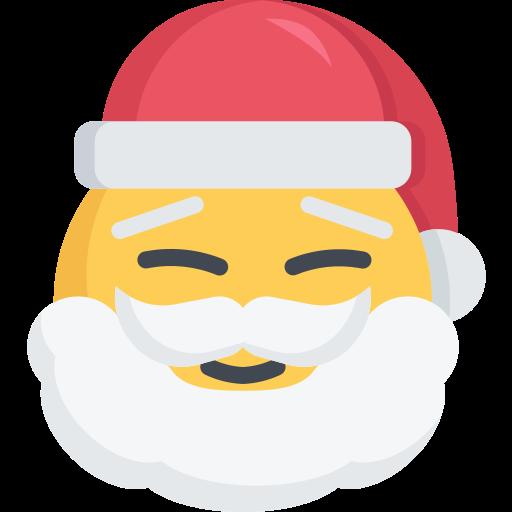 christmas, happy, santa, smile icon