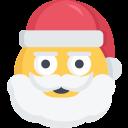 angry, christmas, emoji, santa, stern icon