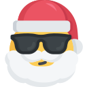 christmas, cool, emoji, santa, sunglasses