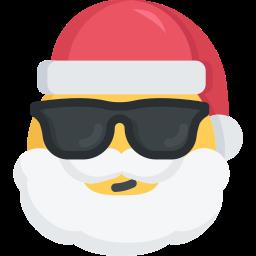 004   santa christmas emoji cool sunglasses 256 Новогодний розыгрыш от магазина лицензионных продуктов от El:Store.Biz