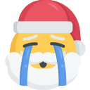christmas, crying, emoji, sad, santa