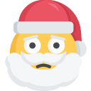 christmas, emoji, sad, santa, upset