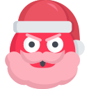 angry, christmas, emoji, mad, santa icon